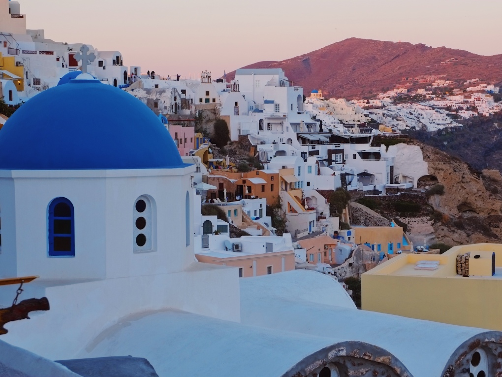 view from oia santorini good city guides